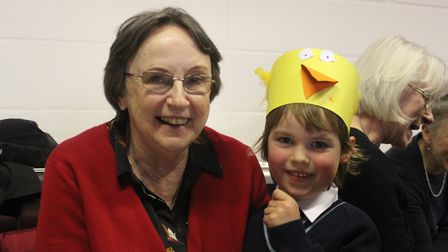 Pupils at King's Ely Acremont showed their grandparents around their classrooms and taught them some
