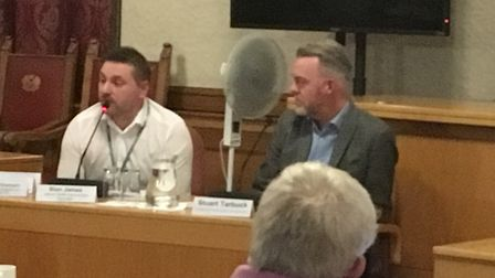 Sion James talks about health for young people during a meeting at Peterborough City Council. Pictur