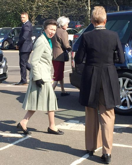 Her Royal Highness Princess Anne has arrived at Metalcraft in Chatteris this morning to speak to app