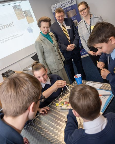 Celebrating homegrown talent was the message as HRH Princess Anne made a royal visit to meet apprent