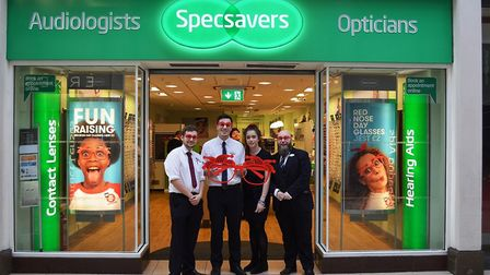 Specsavers stores in Ely, March and Wisbech raised £5,500 for Comic Relief by selling silly specs fo