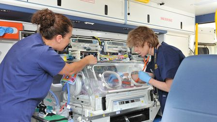 Incubator to help seriously ill babies at Addenbrooke's thanks to community fundraising. Picture: AD