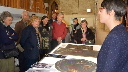 Beautiful stained glass collections in Ely were elegantly displayed to celebrate the museum's 40th b