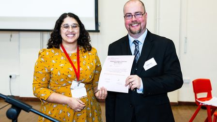 A Kings Ely teacher, Dan Everest (right), has been given an international award for his work on inte