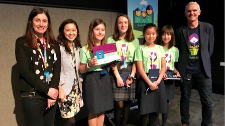 King's Ely Junior pupils attended a DigiGirlz Day at Microsoft Research in Cambridge. Picture: KING'