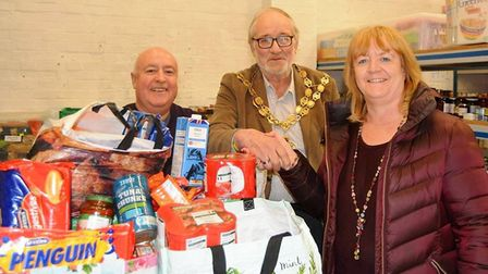 Donations to Ely Foodbank. Picture: MIKE ROUSE