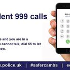 Cambridgeshire Police launch a silent phone calls system using 999 then 55