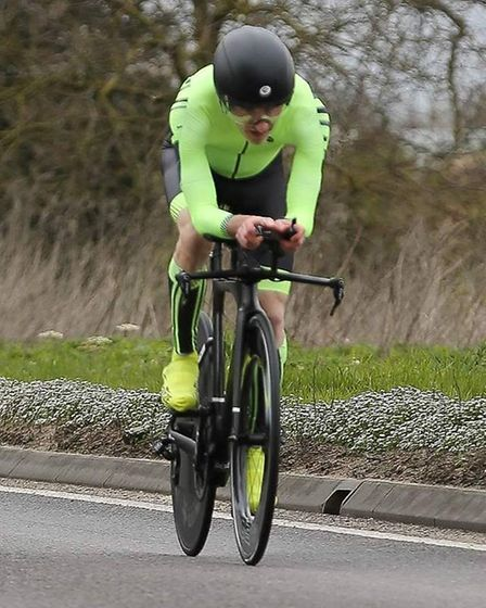 John Manlow on his way to a course PC in the Kyngs Lynn CC 25 mile race (pic Dean Gooding)