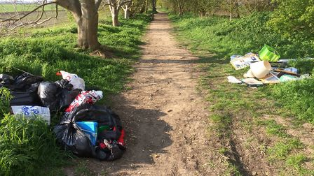 Damning evidence among these rubbish that could help trace the offender who dumped it in a March bea