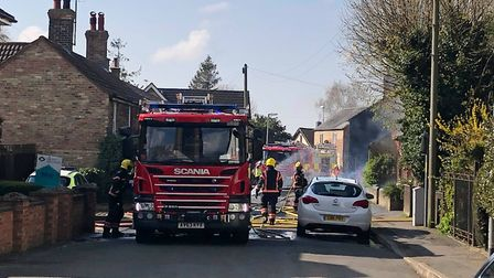 Firefighters tackle house fire in Church Street in March. Picture: NATHAN VESSEY.