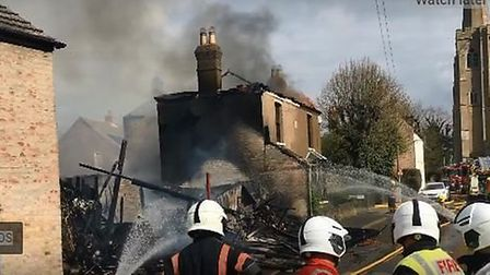 Fears that stored gas cylinders might explode led to neighbours being evacuated from a March road to