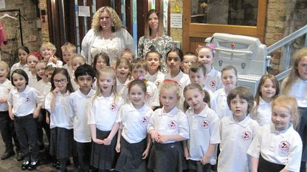Spring Meadow Choir raise their voices to sing at festival in Ely. Picture: SCHOOL.