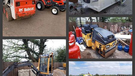 The £67,000 worth of stolen good recovered by Cambridgeshire Pollice rural crime team in a fortnight