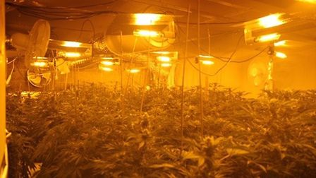 East Cambs Police released this photo from a drugs raid in Fordham near Newmarket as a warning to la