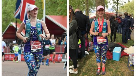 Claire Smith of Doddington (pictured) ran this year's London Marathon in four-and-a-half hours for A
