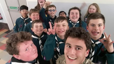Acting as a visiting instructor, Sergeant Luca Chadwick set himself the aim of helping all the scout