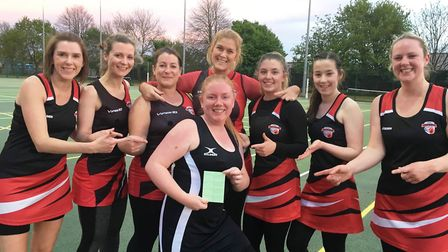 Plenty of cheer about for March Ladybirds netball squad. Some team and individual success give plent