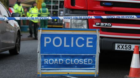 The police blockade has been moved back and crews are beginning to leave the scene at Bittern Way in
