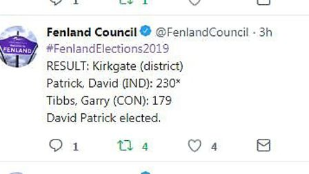 How they voted in the 2019 Fenland District Council election. Picture; FDC