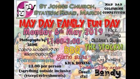 May Day Family Fun Day will take place at St John's Church in March. Picture: SUPPLIED