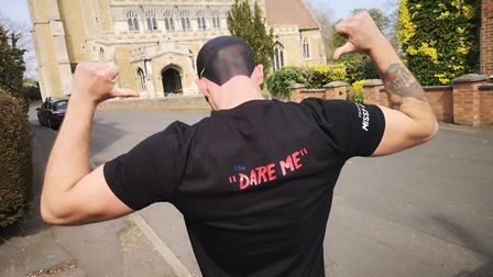 Dan Martin (pictured), who has lived in March for most of his life, is taking on sponsored dares to