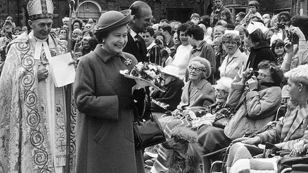 Maundy Thursday April 1967 and the Queen visits Ely for the annual Maundy service. Picture; ARCHIVE