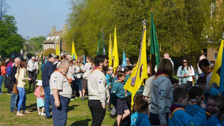 A traditional St George's Day event led by Ely District Scouts was the perfect start to the Easter w