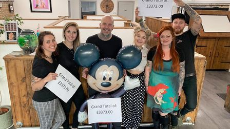 The 'Disney flash' fundraising event on Saturday (April 20) at the Almost Angels Tattoo Family in El