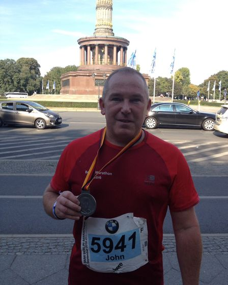 John Angier from Mepal (pictured) has returned from Boston, the final leg in his life-long challenge
