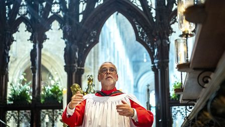 Paul Trepte, Director of Music at Ely Cathedral retired after 29 years at the Easter Sunday service.