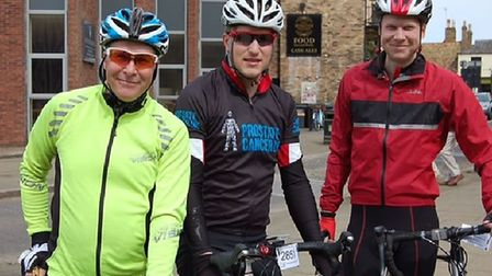 On yer bike for The Reach Ride 2019! Ely organiser Stephen Biddle is pictured with his sons and keen