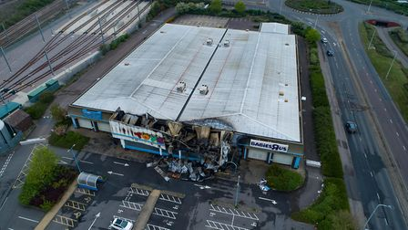 Multiple Fire crews tackle blaze at closed Toys R Us store. Bourges Boulevard, PeterboroughTuesday 2