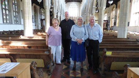Photo taken after Neil College's recital at Long Melford. Jane and Patrick Kohler are on the right