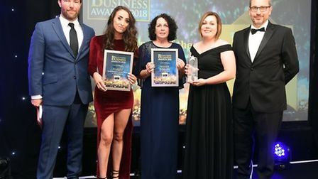 Fenland Business Awards 2018 winner of New Business of the Year Mortgage Ability and finalist Cambri