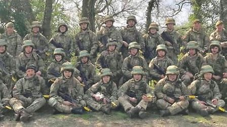Ely air cadet Rory Donoghue joined 300 army cadets at one of the UK's army training grounds. Picture