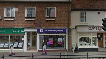 The Saffron Building Society office in Dunmow, which will close its doors for the final time this Ju