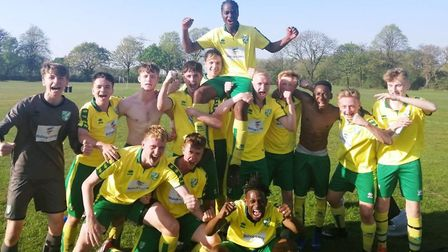 A team coached through the Norwich City football development officer at Bishop Laney sixth form in E
