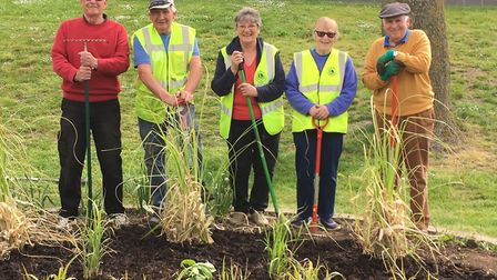 Beautiful flowers are set to bloom in West End Park after the March Lions decided to brighten up the