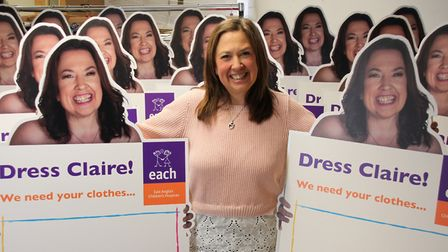 Bereaved parent Claire Wright from Cambridgeshire is the face of a new campaign as a cardboard cut-o