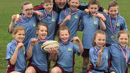 Great Dunmow Primary pupils celebrating their win. Picture: CONTRIBUTED