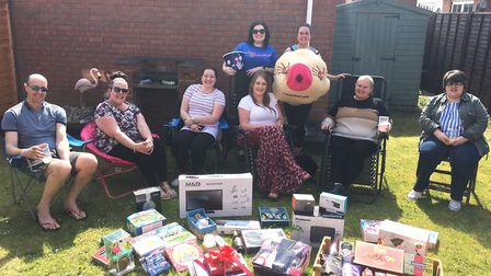 Emily Garry raised more than £300 for CoppaFeel at her charity raffle held at her home in March on F