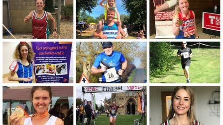 Runners from Cambridgeshire who all took part in this year's Virgin Money London Marathon on Sunday,