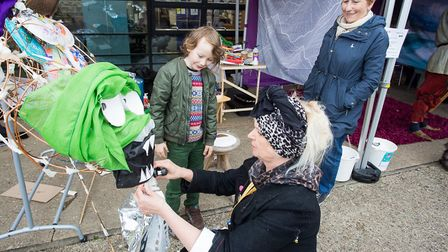 Market Place, the creative arts project, took part in St George's fayre, March, with their ArtZone t