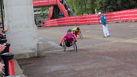 Chloe Lewis, 12, of March, who was born with spina bifida, came second in her category in the mini m
