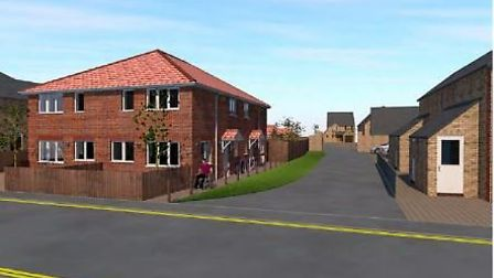 Design produced by developers of what new homes for Deerfield, March, could look like had Fenland Co