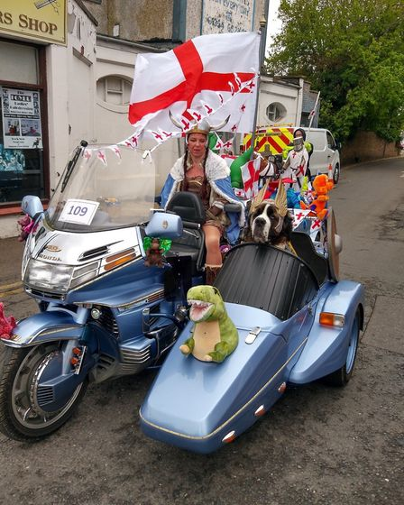 There's something very special about Hugo the St Bernard who was at the front of St George's Day par