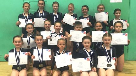 Magnificent effort by the youngsters from Littleport Gymnastics Club after an amazing medals tally a