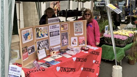 The Wisbech, March and District Trades Union Council stand at the St Georges Fayre in March. Picture
