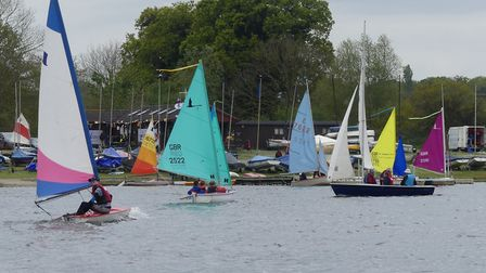 Nearly 160 people braved the chilly conditions at Lackford Lake on Sunday to try their hand at saili