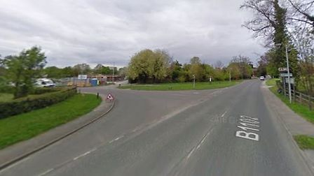 The area where a motorbike and car collided last week before both rider and driver left the scene be